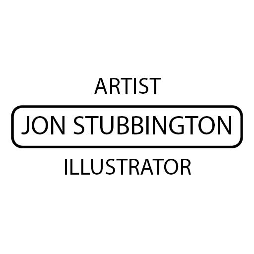 jon stubbington artist illustrator logo