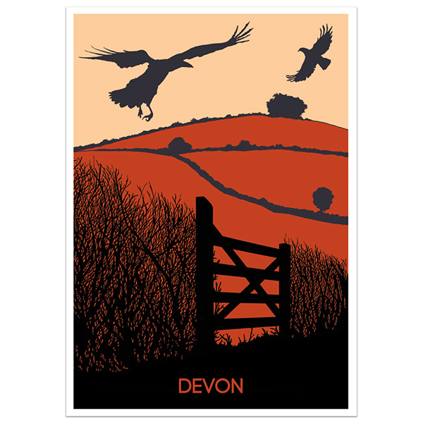 Devon print part of a collection of Devon prints and posters by Devon artist Jon Stubbington