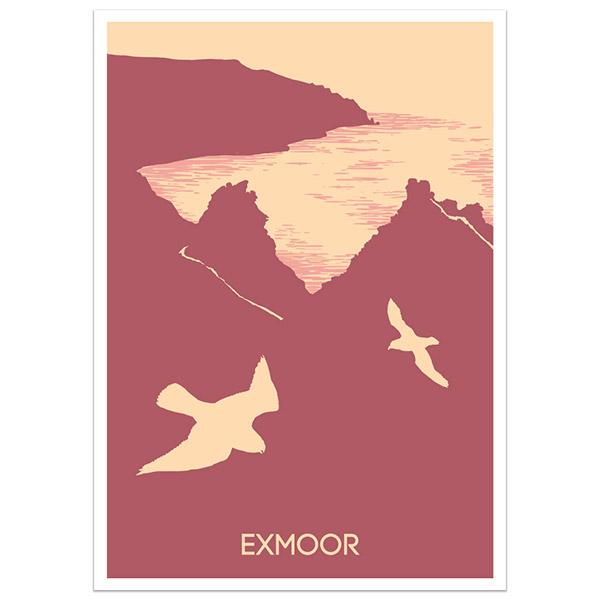 Exmoor print part of a collection of Devon prints and posters by Devon artist Jon Stubbington