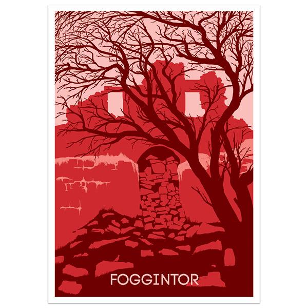 Foggintor print part of a collection of Dartmoor prints and posters by Devon artist Jon Stubbington