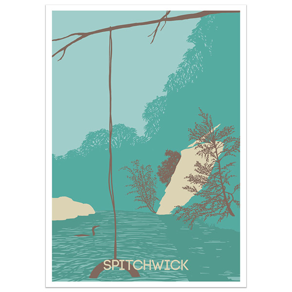 Spitchwick print part of a collection of Dartmoor prints and posters by Devon artist Jon Stubbington
