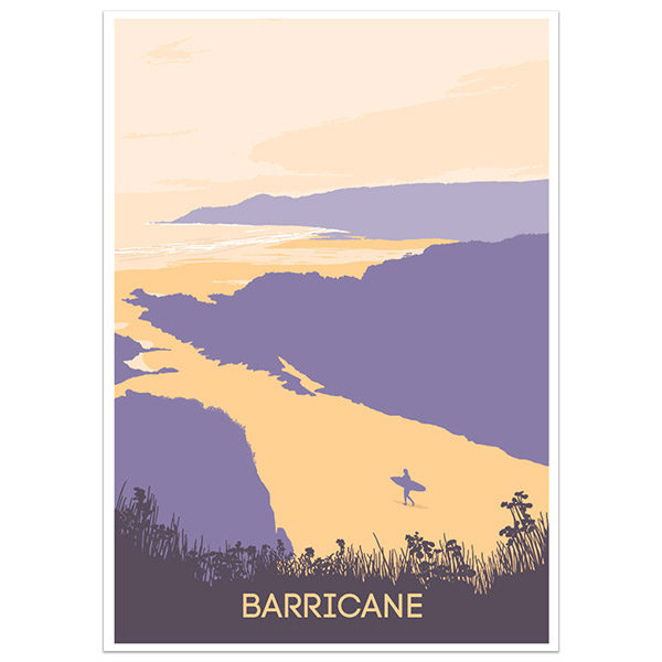Barricane North Devon print part of a collection of coastal prints and posters by Devon artist Jon Stubbington