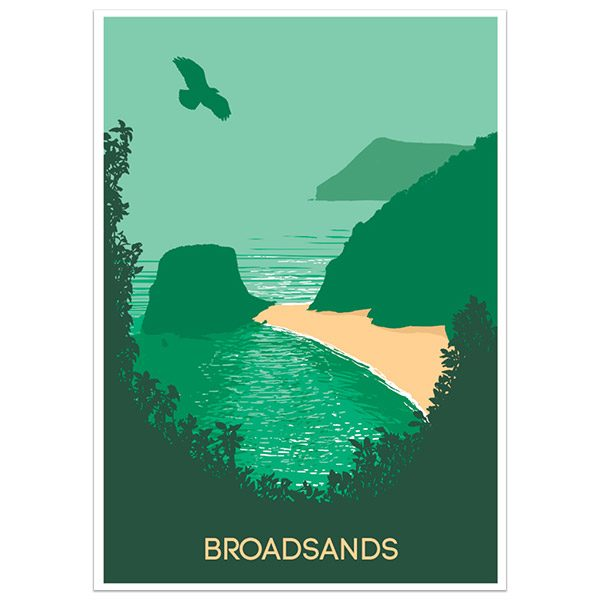 Broadsands Ilfracombe North Devon print part of a collection of coastal prints and posters by Devon artist Jon Stubbington