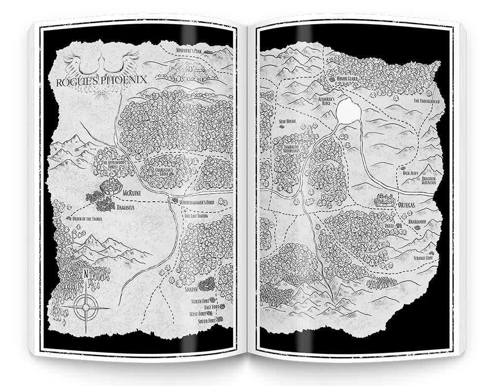 fantasy map illustration design