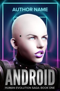 android science fiction robot premade book cover