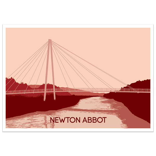 Newton Abbot Quay poster illustration