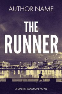 thriller premade book cover city river jogger