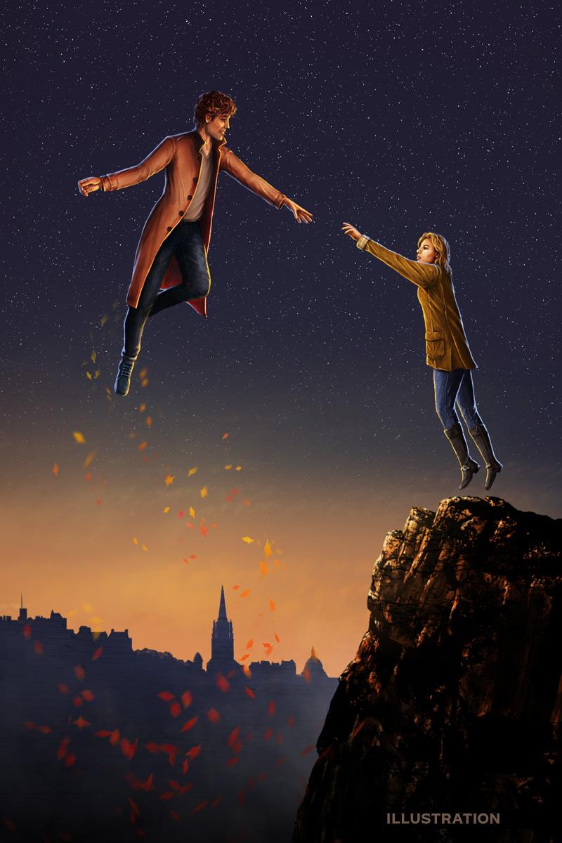 Summoned contemporary fantasy illustration