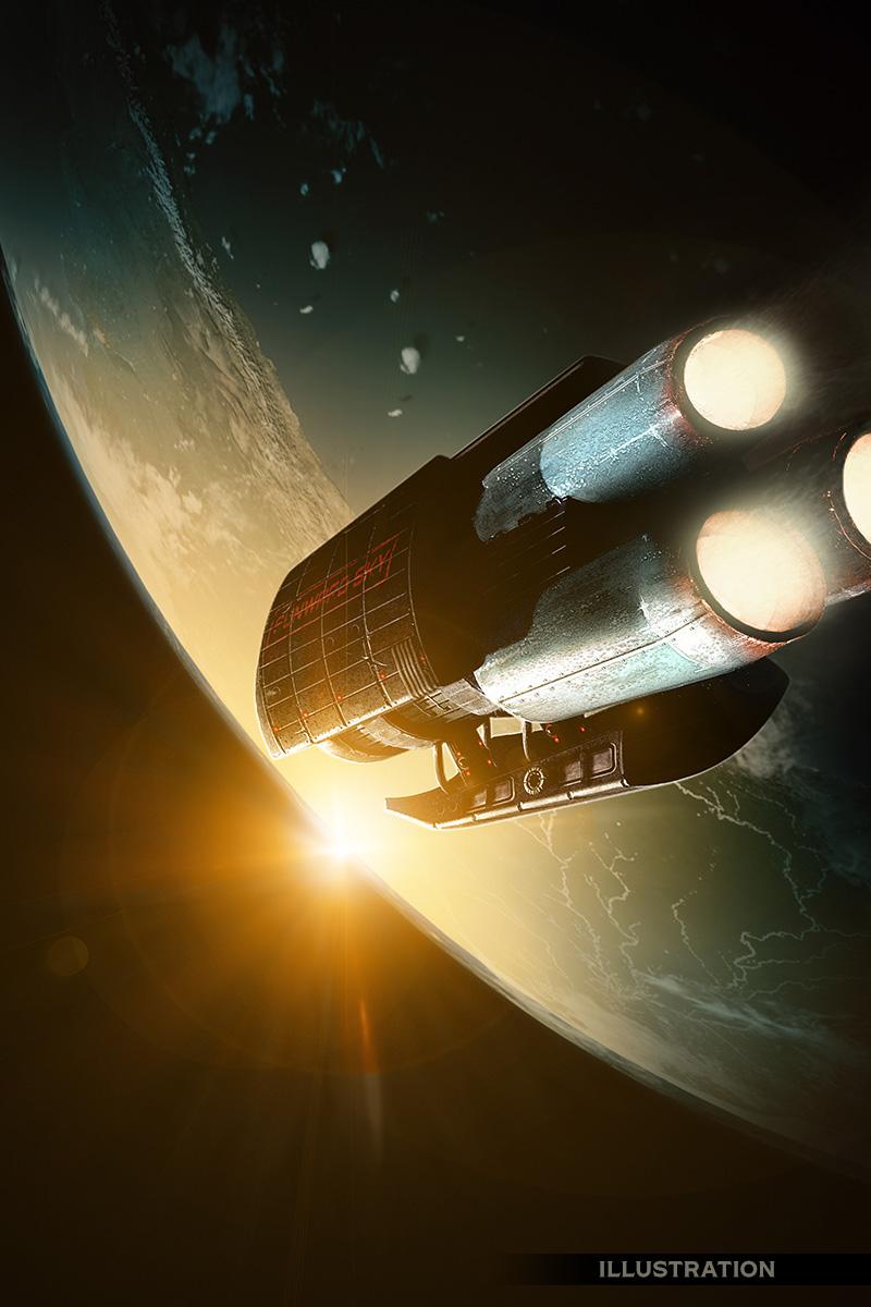 Sunward Sky science fiction space scene