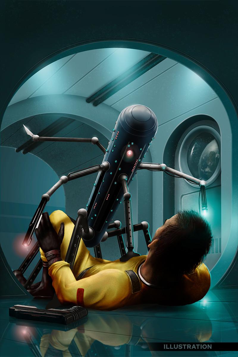 Voidstrider 3 science fiction scene killer robot