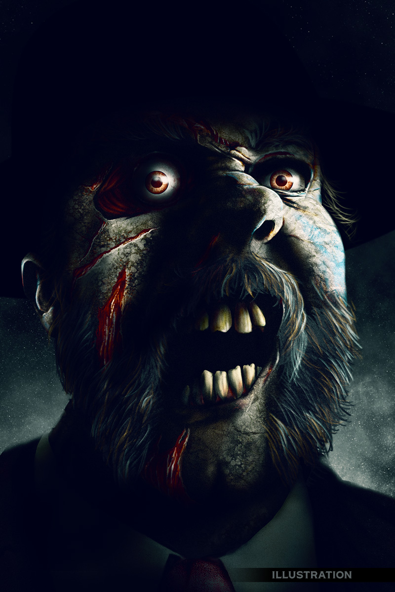 Zombie character illustration