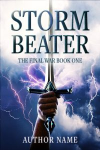 fantasy sword lightning premade cover