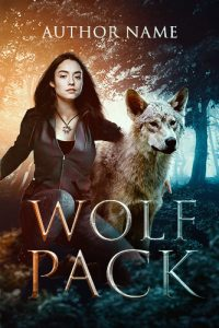 paranormal romance wolf woman shifter premade cover