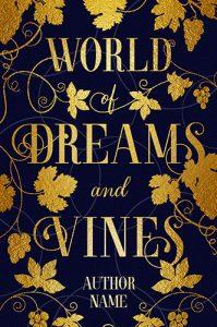 typographic premade cover vines gold