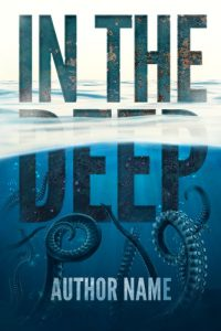 typographic premade cover sea monster