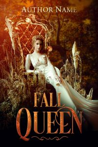 autumn fall queen forest premade book cover