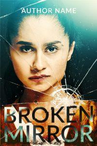 thriller woman broken mirror premade cover