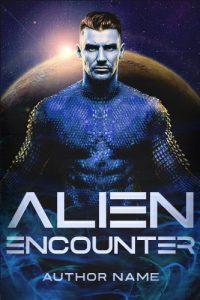 alien man romance premade cover