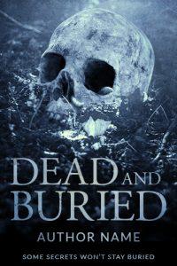 horror premade book cover skull